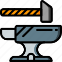 anvil, equipment, tool, tools, work icon