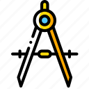 compass, equipment, tool, tools, work icon