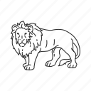 african lion, big cat, circus, large land mammal, lion, panthera leo, zoo icon