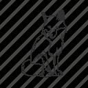 coyote, fox, friendly fox, medium land mammal, vulpes, wild fox, wolf icon