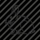 bunny, hare, lagomorpha, leporidae, rabbit, small land mammal, easter icon