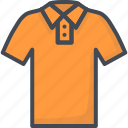 clothes, filled, outline, polo, t-shirt icon