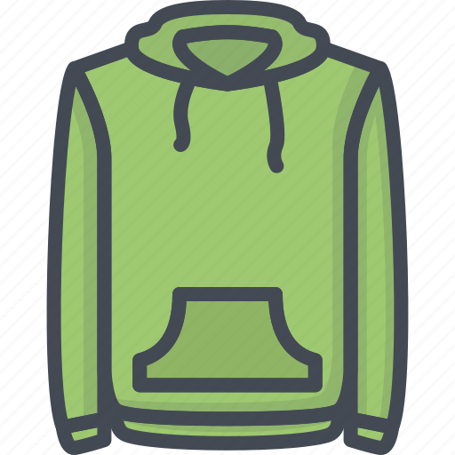 clothes, filled, hoodie, outline icon