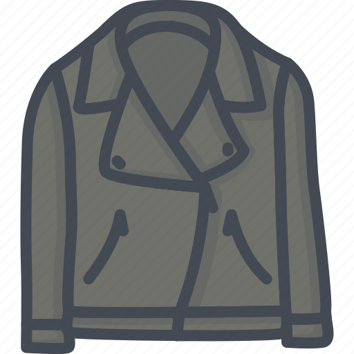 clothes, filled, jacket, leather, outline icon