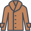 clothes, coa, coat, filled, leather icon