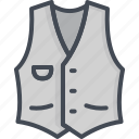 clothes, filled, outline, vest icon