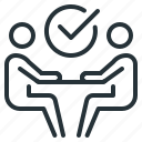 business, communication, conversation, interview, negotiation icon