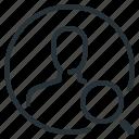magnifier, person, profile, search