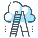 achievement, career, cloud, growth, ladder