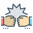 fists, friend, friendship, greeting icon