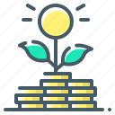 money, grow, investment, growth, sprout, grows icon