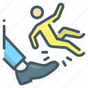 kick in the ass, dismissal, kick, unemployment, person icon