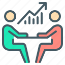 conversation, business, interview, negotiation, communication icon