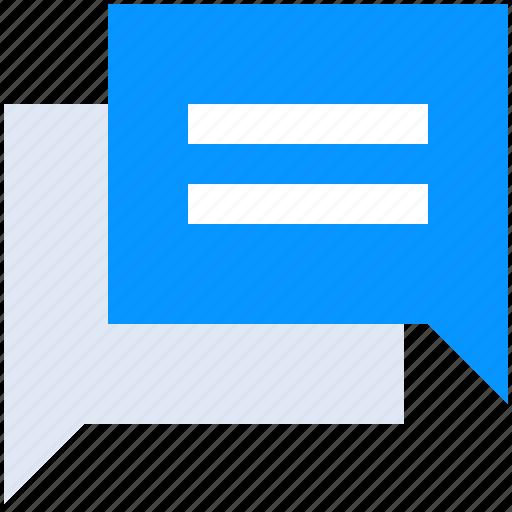 Bubble, chat, communication, conversation, launcher, message, talk icon - Download on Iconfinder