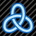 knot, math, mathematics, node, topology icon