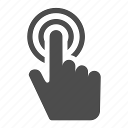 click, double, finger, gesture, hand, tap, touch icon