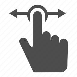 arrows, finger, gesture, horizontal, left, right, touch icon