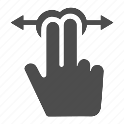 arrows, fingers, gesture, horizontal, left, move, right icon