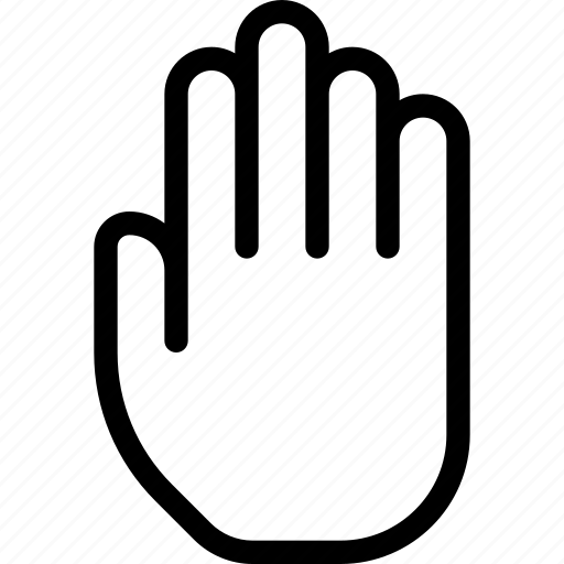 fingers, gesture, hand, palm, touch icon
