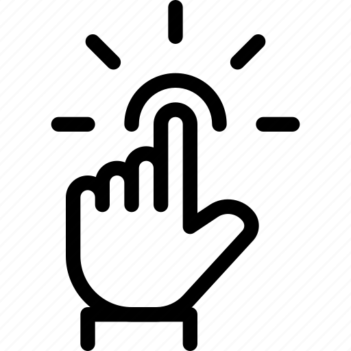 fingers, gesture, screen, tap, touch icon