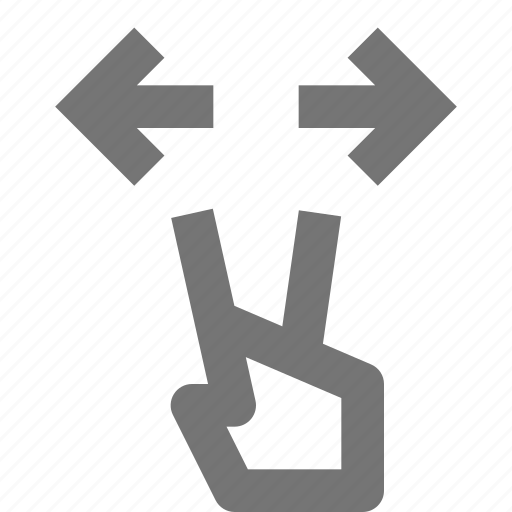 arrows, click, expand, gesture, hand, interaction, pointer, touch icon