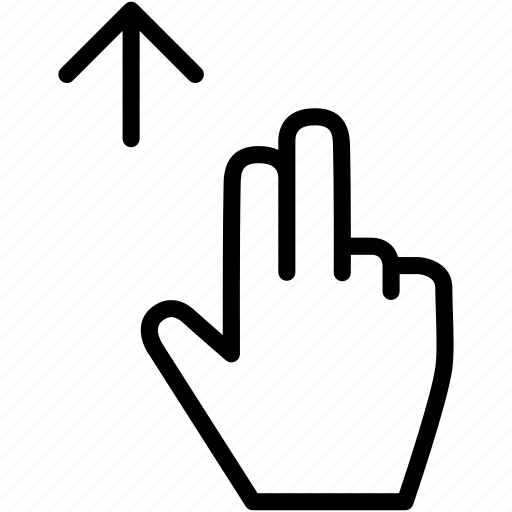 arrow, drag, finger, gesture, hand, up icon