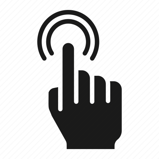 double, finger, gesture, one, screen, tap, touch icon