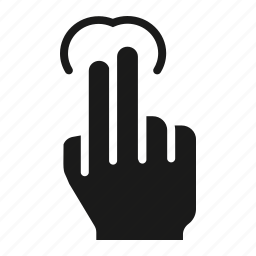 finger, gesture, hold, screen, tap, touch, two icon