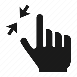 device, finger, gesture, hand, out, screen, zoom icon