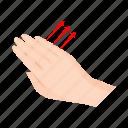 finger, gesture, hand, manipulation, movement, sensor icon