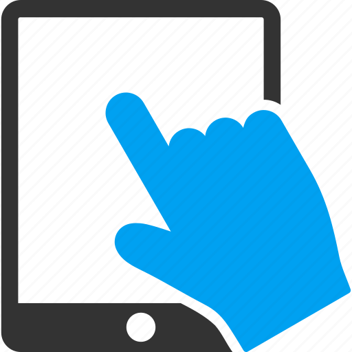 gesture, hand, ipad, point, pointer, tap, touch icon