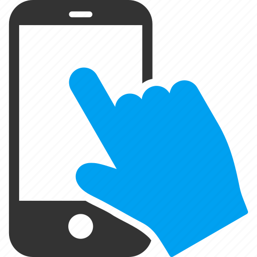 gesture, hand, iphone, pointer, screen, tap, touch icon