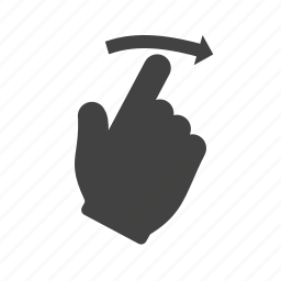 drawn, finger, hand, pointer, screen, swipe, touch icon