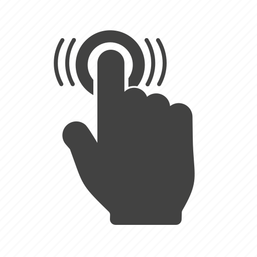 double, finger, gesture, hand, technology, touch icon