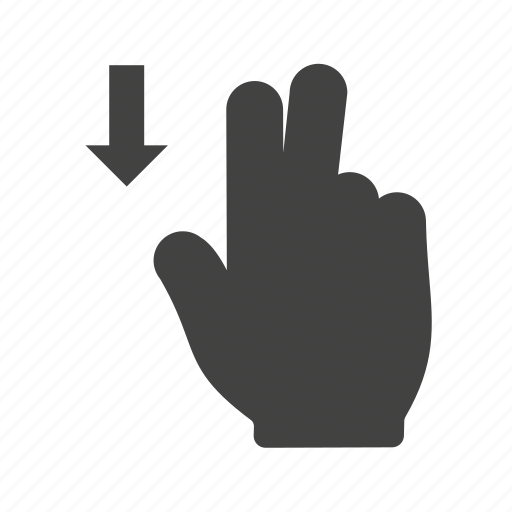 down, finger, gesture, gestures, hand, scroll, swipe icon