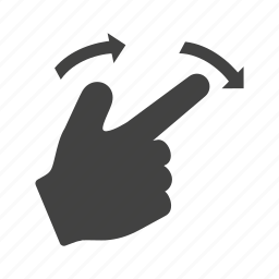 arrow, down, finger, gesture, right, swipe, touch icon