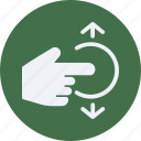click, flick, gestures, interaction, screen, touch icon