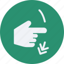 click, down, gestures, interaction, rotate, screen, touch icon