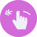 gestures, left, rotate, touch icon