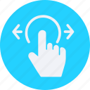 click, gestures, interaction, screen, swipe, touch icon