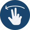 click, gestures, interaction, left, screen, swipe, touch icon