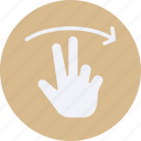 click, gestures, interaction, right, screen, swipe, touch icon