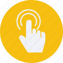 click, finger, gestures, interaction, of, one, screen, touch icon