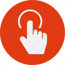 click, finger, gestures, one, touch icon
