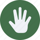 click, fingers, five, gestures, interaction, screen, touch icon