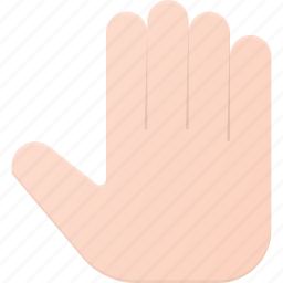 five, gesture, hand, hi, open, touch icon