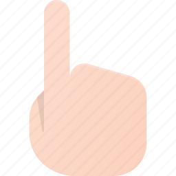 click, gesture, hand, point, show, touch, up icon