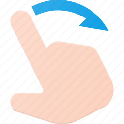 gesture, hand, right, swipe, touch icon