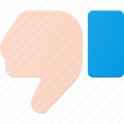 dislike, down, gesture, hand, rate, thumbs, touch icon