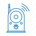 radio, song, sound, voice icon